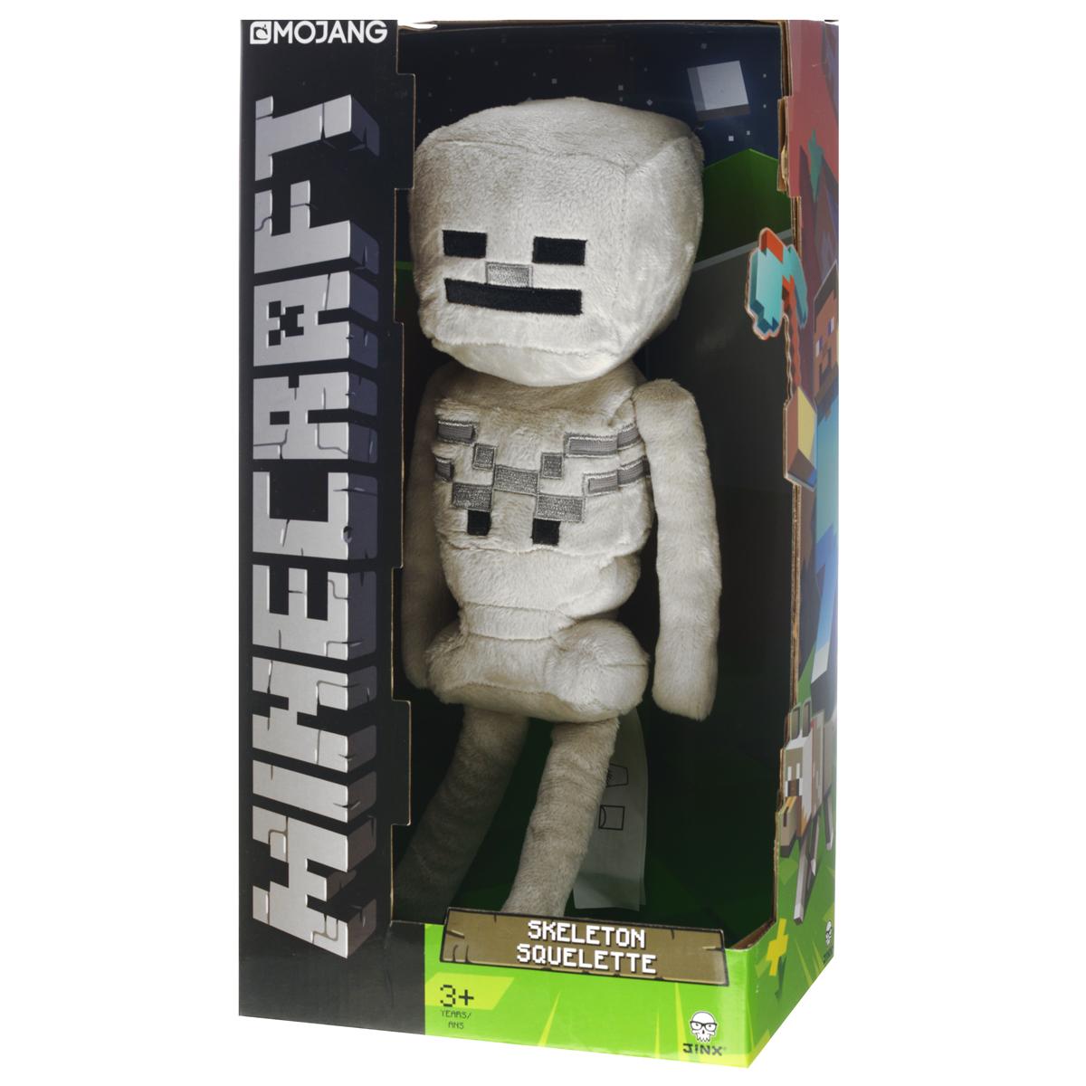 Мягкая игрушка Minecraft Скелетон, 33 см17431Мягкая игрушка Minecraft Скелетон станет прекрасным подарком любителю всего необычного и оригинального. Она выполнена из приятного на ощупь полиэстера в виде персонажа компьютерной игры Minecraft - Скелетона (Skeleton) и оформлена вышивкой. Minecraft - компьютерная игра в жанре песочницы с элементами выживания и открытым миром. Мир игры полностью состоит из блоков. Игроки, используя различные режимы, должны строить дома, добывать и использовать ресурсы, бороться с монстрами и т.д.