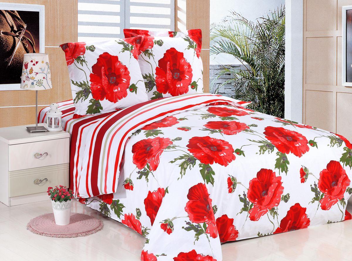 Комплект белья Amore Mio ET Tango, 1,5-спальное. 6568065680Amore Mio – Комфорт и Уют - Каждый день! Amore Mio предлагает оценить соотношению цены и качества коллекции. Разнообразие ярких и современных дизайнов прослужат не один год и всегда будут радовать Вас и Ваших близких сочностью красок и красивым рисунком. Белье Amore Mio – лучший подарок любимым! Поплин – европейский аналог бязи. Это ткань самого простого полотняного плетения с чуть заметным рубчиком, который появляется из-за использования нитей разной толщины. Состоит из 100% натурального хлопка, поэтому хорошо удерживает тепло, впитывает влагу и позволяет телу дышать. На ощупь поплин мягче бязи, но грубее сатина. Благодаря использованию современных методов окраски, не линяет и его можно стирать при температуре до 40°C.