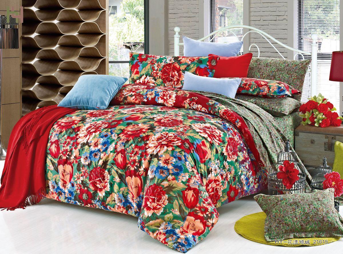 Комплект белья Amore Mio ZHG Gipsy, 1,5-спальное. 6802268022Amore Mio – Комфорт и Уют - Каждый день! Amore Mio предлагает оценить соотношению цены и качества коллекции. Разнообразие ярких и современных дизайнов прослужат не один год и всегда будут радовать Вас и Ваших близких сочностью красок и красивым рисунком. Что такое Satin/Сатин.-это ткань сатинового (атласного) переплетения нитей. Имеет гладкую, шелковистую лицевую поверхность, на которой преобладают уточные нити (уток – горизонтально расположенные в тканом полотне нити). Сатин изготавливается из крученой хлопковой нити двойного плетения. Он чрезвычайно приятен на ощупь, не электризуется и не скользит по кровати. Сатин прекрасно сохраняет форму и не мнется, отлично пропускает воздух, что позволяет телу дышать и дарит здоровый и комфортный сон. Пододеяльник-150*215, Простыня-150*225, наволочки-70*70(2шт)