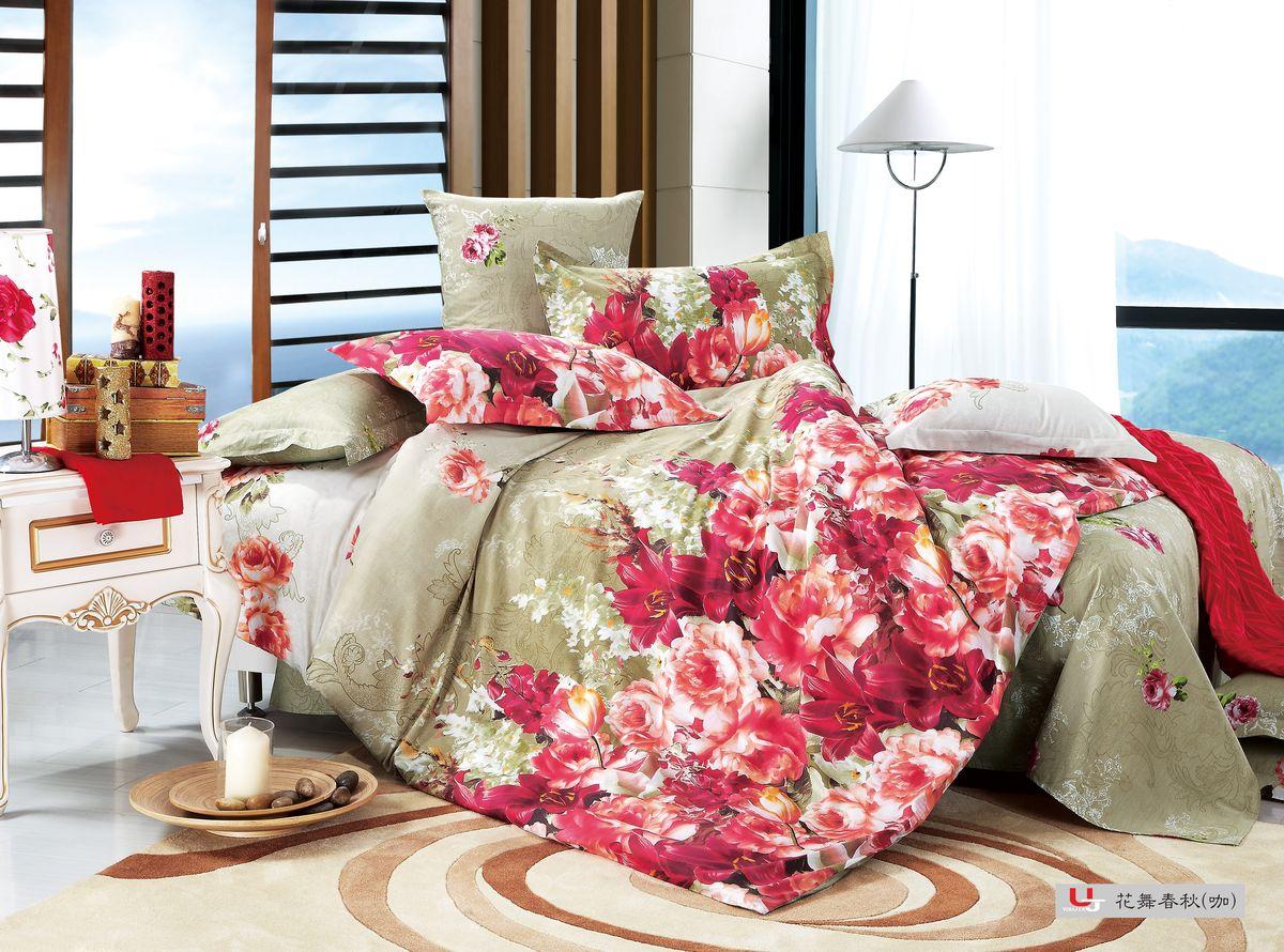 Комплект белья Amore Mio ZHG Mechta, 1,5-спальное BE. 6803468034Amore Mio – Комфорт и Уют - Каждый день! Amore Mio предлагает оценить соотношению цены и качества коллекции. Разнообразие ярких и современных дизайнов прослужат не один год и всегда будут радовать Вас и Ваших близких сочностью красок и красивым рисунком. Что такое Satin/Сатин.-это ткань сатинового (атласного) переплетения нитей. Имеет гладкую, шелковистую лицевую поверхность, на которой преобладают уточные нити (уток – горизонтально расположенные в тканом полотне нити). Сатин изготавливается из крученой хлопковой нити двойного плетения. Он чрезвычайно приятен на ощупь, не электризуется и не скользит по кровати. Сатин прекрасно сохраняет форму и не мнется, отлично пропускает воздух, что позволяет телу дышать и дарит здоровый и комфортный сон. Пододеяльник-150*215, Простыня-150*225, наволочки-70*70(2шт)