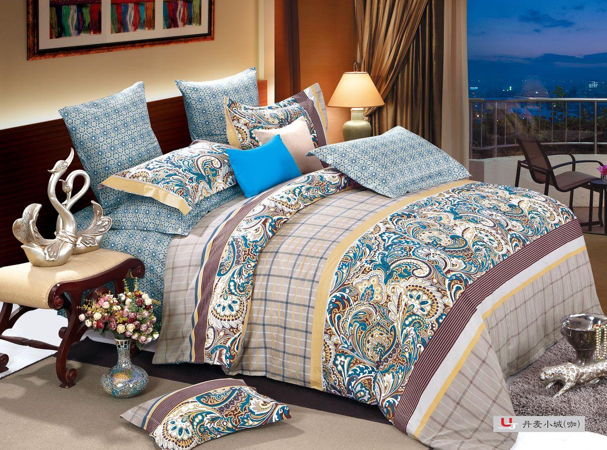 Комплект белья Amore Mio ZHG Ajwain, 1,5-спальное BR. 6805868058Amore Mio – Комфорт и Уют - Каждый день! Amore Mio предлагает оценить соотношению цены и качества коллекции. Разнообразие ярких и современных дизайнов прослужат не один год и всегда будут радовать Вас и Ваших близких сочностью красок и красивым рисунком. Что такое Satin/Сатин.-это ткань сатинового (атласного) переплетения нитей. Имеет гладкую, шелковистую лицевую поверхность, на которой преобладают уточные нити (уток – горизонтально расположенные в тканом полотне нити). Сатин изготавливается из крученой хлопковой нити двойного плетения. Он чрезвычайно приятен на ощупь, не электризуется и не скользит по кровати. Сатин прекрасно сохраняет форму и не мнется, отлично пропускает воздух, что позволяет телу дышать и дарит здоровый и комфортный сон. Пододеяльник-150*215, Простыня-150*225, наволочки-70*70(2шт)