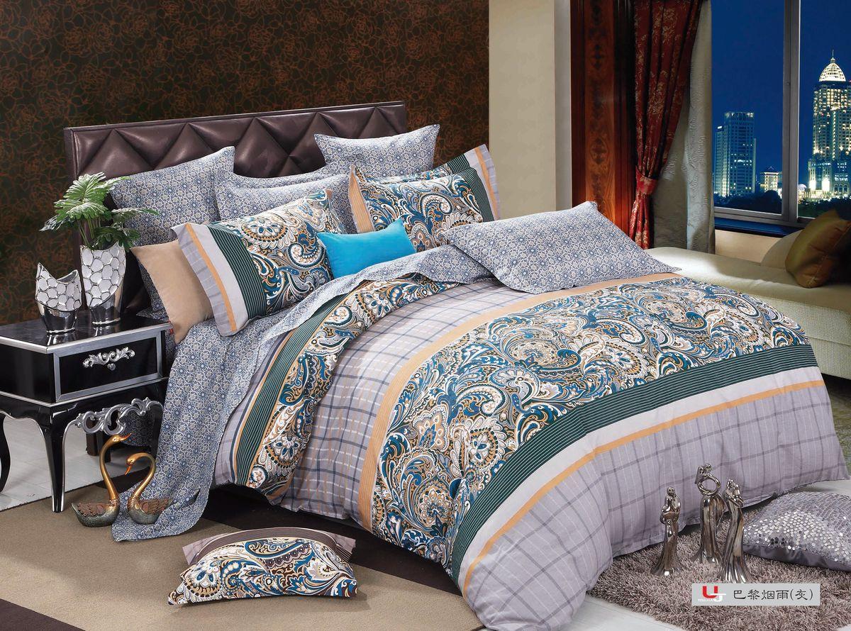 Комплект белья Amore Mio ZHG Ajwain, 2-спальное GR. 6806368063Amore Mio – Комфорт и Уют - Каждый день! Amore Mio предлагает оценить соотношению цены и качества коллекции. Разнообразие ярких и современных дизайнов прослужат не один год и всегда будут радовать Вас и Ваших близких сочностью красок и красивым рисунком. Что такое Satin/Сатин.-это ткань сатинового (атласного) переплетения нитей. Имеет гладкую, шелковистую лицевую поверхность, на которой преобладают уточные нити (уток – горизонтально расположенные в тканом полотне нити). Сатин изготавливается из крученой хлопковой нити двойного плетения. Он чрезвычайно приятен на ощупь, не электризуется и не скользит по кровати. Сатин прекрасно сохраняет форму и не мнется, отлично пропускает воздух, что позволяет телу дышать и дарит здоровый и комфортный сон.