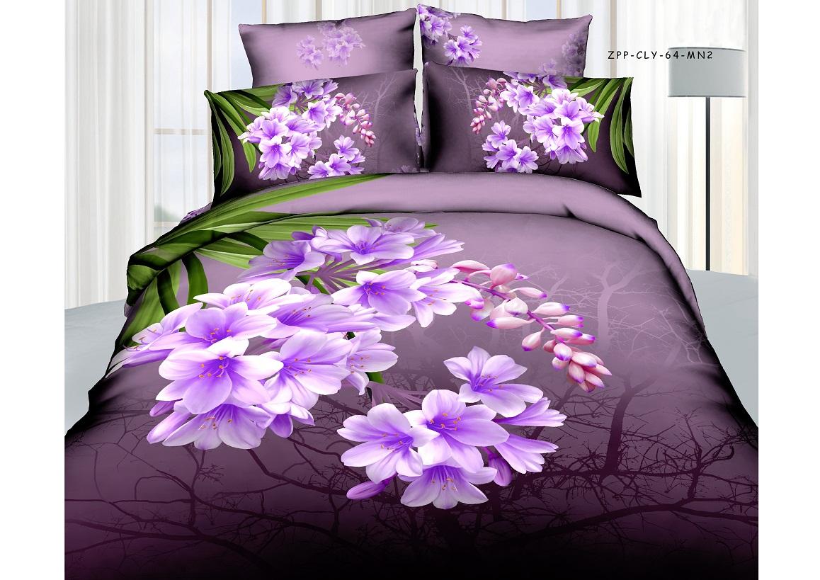 Комплект белья Buenas Noches Вечер, 2-спальный, наволочки 70х70, 70х50, цвет: фиолетовый, зеленый, черный68706Комплект постельного белья Buenas Noches Вечер является экологически безопасным для всей семьи, так как выполнен из 100% хлопка. Комплект состоит из пододеяльника, простыни и четырех наволочек. Постельное белье оформлено оригинальным рисунком. Легкая, плотная, мягкая ткань отлично стирается, гладится, быстро сохнет. Рекомендации по уходу: Химчистка и отбеливание запрещены. Рекомендуется стирка в воде при температуре не выше 40°.