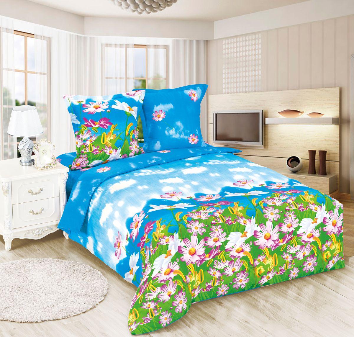 Комплект белья Amore Mio ET Radost, 1,5-спальное. 7006070060Amore Mio – Комфорт и Уют - Каждый день! Amore Mio предлагает оценить соотношению цены и качества коллекции. Разнообразие ярких и современных дизайнов прослужат не один год и всегда будут радовать Вас и Ваших близких сочностью красок и красивым рисунком. Белье Amore Mio – лучший подарок любимым! Поплин – европейский аналог бязи. Это ткань самого простого полотняного плетения с чуть заметным рубчиком, который появляется из-за использования нитей разной толщины. Состоит из 100% натурального хлопка, поэтому хорошо удерживает тепло, впитывает влагу и позволяет телу дышать. На ощупь поплин мягче бязи, но грубее сатина. Благодаря использованию современных методов окраски, не линяет и его можно стирать при температуре до 40°C. Пододеяльник-150*215, Простыня-150*220, наволочки-70*70(1шт)