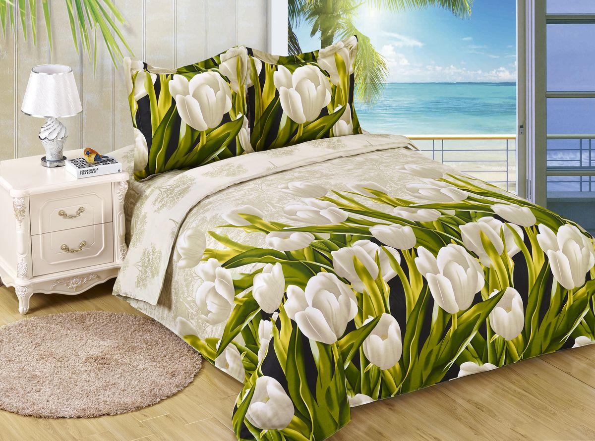 Комплект белья Amore Mio ET Tulpan, 1,5-спальное. 7006170061Amore Mio – Комфорт и Уют - Каждый день! Amore Mio предлагает оценить соотношению цены и качества коллекции. Разнообразие ярких и современных дизайнов прослужат не один год и всегда будут радовать Вас и Ваших близких сочностью красок и красивым рисунком. Белье Amore Mio – лучший подарок любимым! Поплин – европейский аналог бязи. Это ткань самого простого полотняного плетения с чуть заметным рубчиком, который появляется из-за использования нитей разной толщины. Состоит из 100% натурального хлопка, поэтому хорошо удерживает тепло, впитывает влагу и позволяет телу дышать. На ощупь поплин мягче бязи. Благодаря использованию современных методов окраски, не линяет и его можно стирать при температуре до 40°C. Пододеяльник-150*215, Простыня-150*220, наволочки-70*70(1шт)