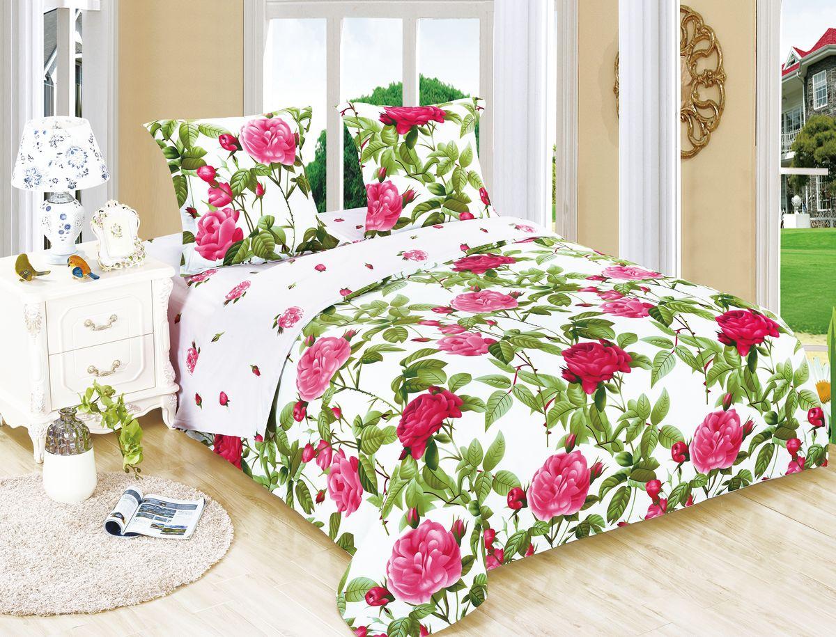 Комплект белья Amore Mio ET Svidanie, 1,5-спальное. 7006470064Amore Mio – Комфорт и Уют - Каждый день! Amore Mio предлагает оценить соотношению цены и качества коллекции. Разнообразие ярких и современных дизайнов прослужат не один год и всегда будут радовать Вас и Ваших близких сочностью красок и красивым рисунком. Белье Amore Mio – лучший подарок любимым! Поплин – европейский аналог бязи. Это ткань самого простого полотняного плетения с чуть заметным рубчиком, который появляется из-за использования нитей разной толщины. Состоит из 100% натурального хлопка, поэтому хорошо удерживает тепло, впитывает влагу и позволяет телу дышать. На ощупь поплин мягче бязи, но грубее сатина. Благодаря использованию современных методов окраски, не линяет и его можно стирать при температуре до 40°C. Пододеяльник-150*215, Простыня-150*220, наволочки-70*70(1шт)