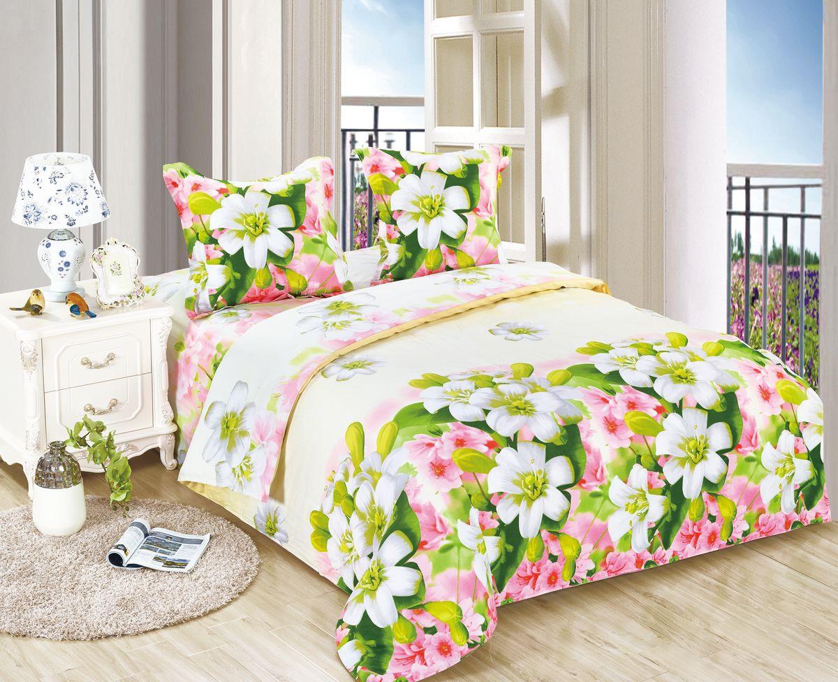 Комплект белья Amore Mio ET Veselie, 1,5-спальное. 7007370073Amore Mio – Комфорт и Уют - Каждый день! Amore Mio предлагает оценить соотношению цены и качества коллекции. Разнообразие ярких и современных дизайнов прослужат не один год и всегда будут радовать Вас и Ваших близких сочностью красок и красивым рисунком. Белье Amore Mio – лучший подарок любимым! Поплин – европейский аналог бязи. Это ткань самого простого полотняного плетения с чуть заметным рубчиком, который появляется из-за использования нитей разной толщины. Состоит из 100% натурального хлопка, поэтому хорошо удерживает тепло, впитывает влагу и позволяет телу дышать. На ощупь поплин мягче бязи. Благодаря использованию современных методов окраски, не линяет и его можно стирать при температуре до 40°C. Пододеяльник-150*215, Простыня-150*220, наволочки-70*70(1шт)