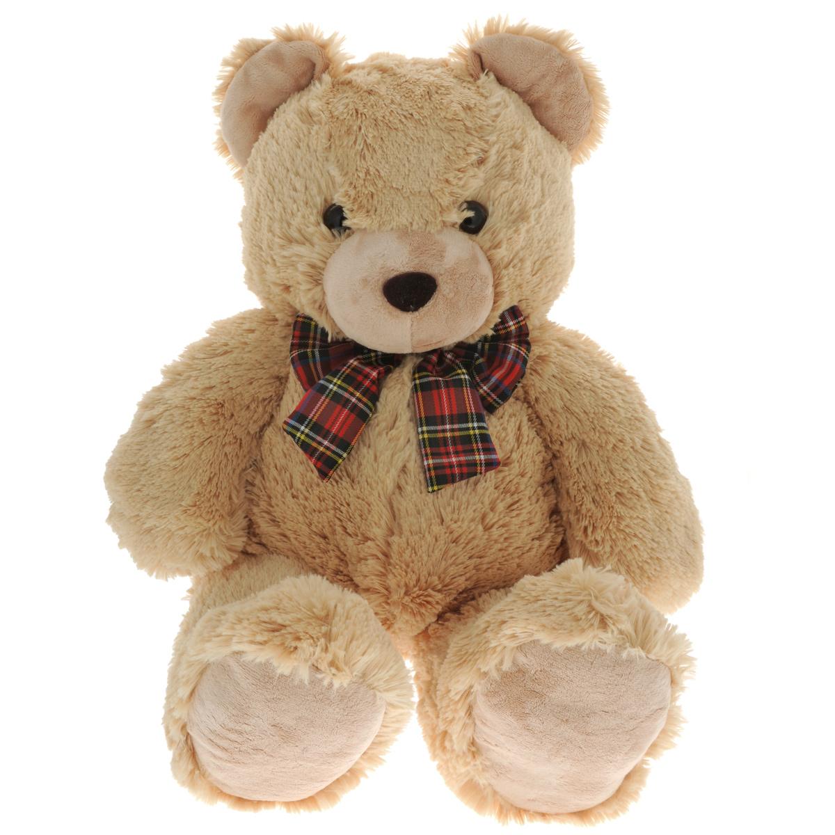 Мягкая игрушка Gulliver Мишка с бантом, цвет: светло-коричневый, 60 см