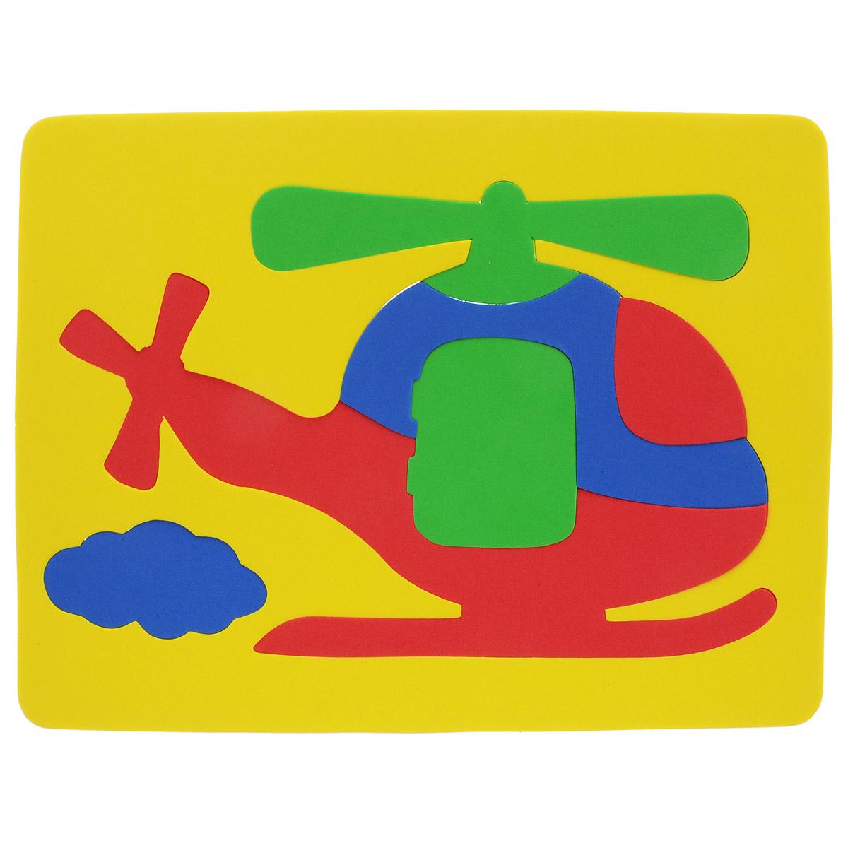 Фантазер Пазл для малышей Вертолет цвет основы желтый063551ВПазл для малышей Фантазер Вертолет обязательно понравится вашему малышу! Элементы пазла выполнены из мягкого, приятного на ощупь и абсолютно безопасного материала, имеют закругленные края. Набор включает в себя 7 разноцветных элементов. Игрушка может использоваться и в ванной - при смачивании водой элементы прилипают к гладким вертикальным поверхностям. Пазл для малышей Фантазер Вертолет поможет малышу развить цветовое восприятие, мелкую моторику рук, тактильные ощущения и координацию движений. При игре с пазлом улучшается визуально-сенсорное развитие и творческое мышление.