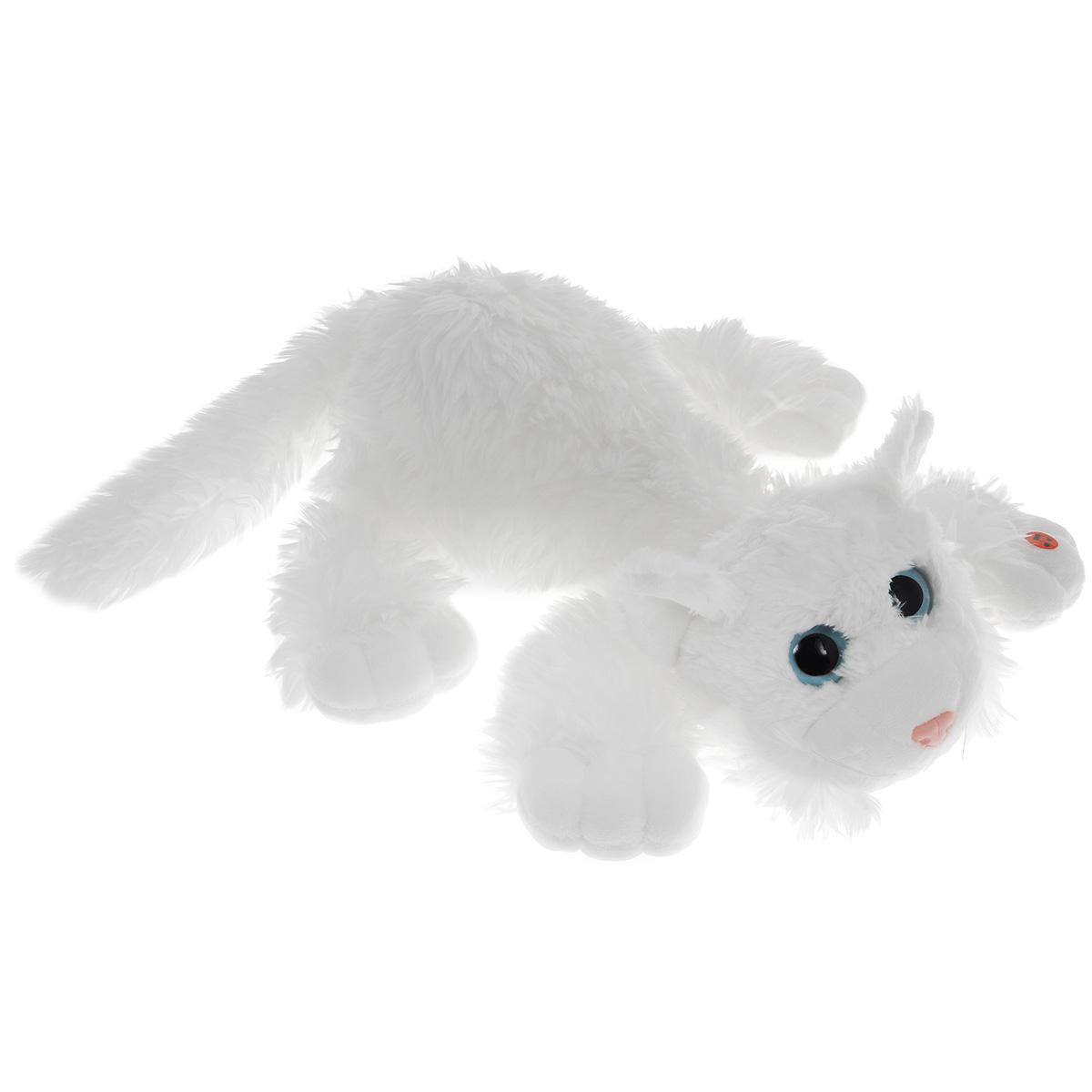 Gulliver Мягкая игрушка Котик Шалунишка цвет белый 35 см