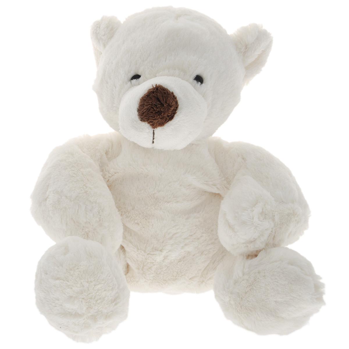 Мягкая игрушка Gulliver Медведь белый, лежачая, 43 см7-43061-1Мягкая игрушка Медведь белый лежачий создана на радость мальчикам и девочкам, но и взрослые не смогут пройти мимо такого очаровашки. Малыш будет воображать медведя на дрейфующей льдине, странствующей по просторам океана или нежащегося на солнышке в вольере зоопарка, а может ребенок просто захочет взять мишку с собой в гости, чтобы показать своим друзьям плюшевого питомца. Медведь белого цвета, без всяких пятен на шкурке, у него выделяются только черные глазки, похожие на два маленьких уголька, и черный носик. Медвежонок ложится спать, почти полностью сворачиваясь в клубочек, а при желании его можно усадить. Ребенку понравится спать с плюшевым другом, крепко обняв его или положив под голову вместо подушки. Мягкие игрушки способствуют развитию тактильной чувствительности и воображения малыша, ребенок учится быть самостоятельным и нести ответственность за своего плюшевого друга мишку. Кроха станет внимательным, ловким и аккуратным, будет следить,...