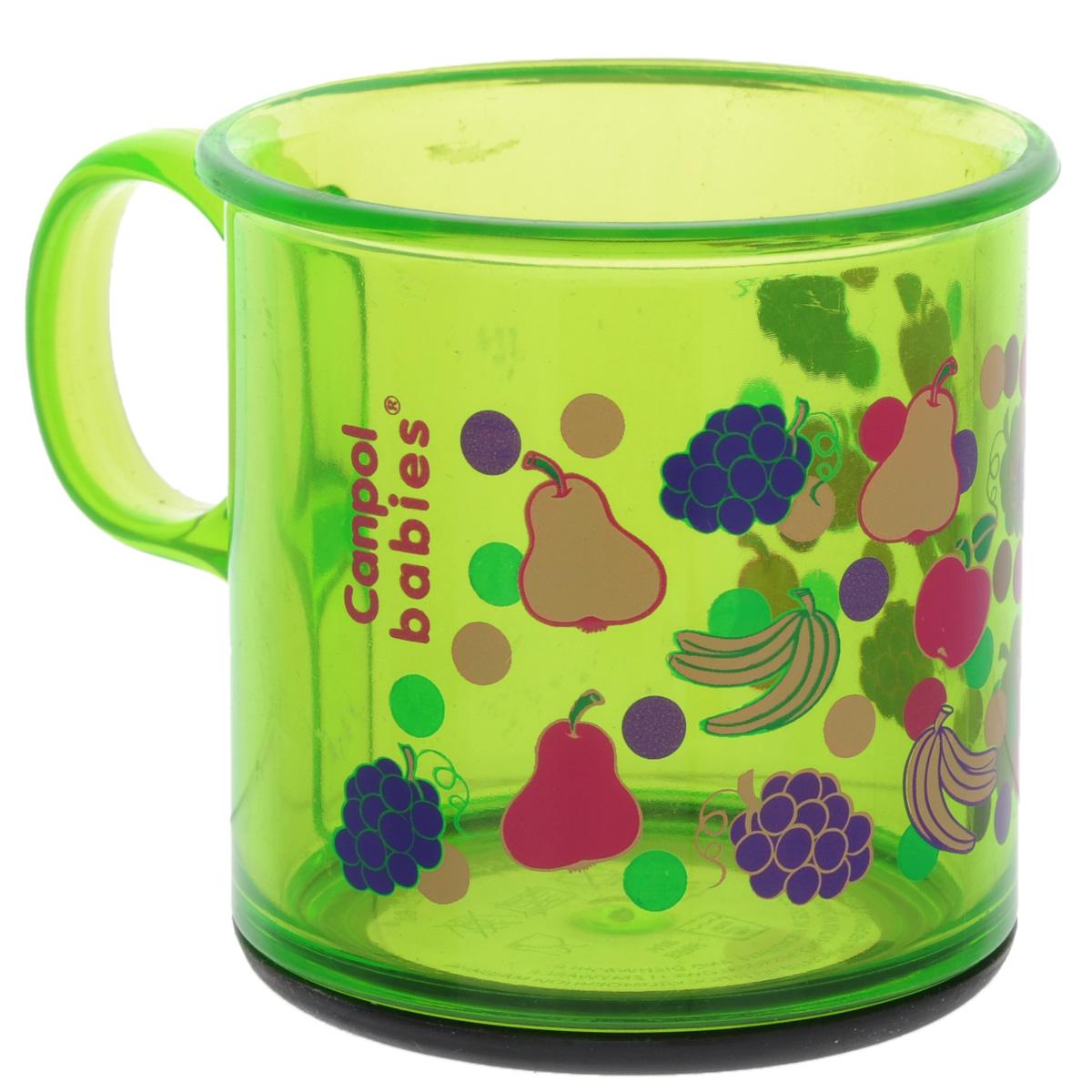 Canpol Babies Кружка цвет зеленый 170 мл2/100_зеленыйКружка Canpol Babies идеально подходит для малышей. Изделие выполнено из высококачественного полупрозрачного пластика, который выдерживает температуру нагрева до +40°С. Внешние стенки украшены ярким изображением фруктов и ягод. Кружка безопасна для использования детьми, так как она не бьется. Основание оснащено резиновой вставкой для большей устойчивости. Не рекомендуется мыть в посудомоечной машине и использовать в микроволновой печи.