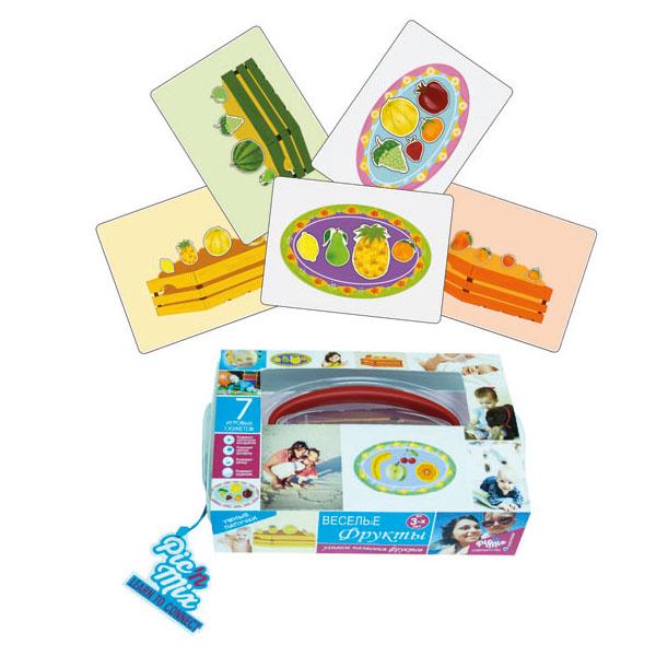 Picnmix Обучающая игра Веселые фрукты112001Обучающая игра паззл-липучка состоит из 7 игровых полей, на которые необходимо прикрепить при помощи липучек недостающие элементы, чтобы получилось законченное изображение. Выполняя игровые задания, ребенок изучает названия фруктов, их отличительные свойства и цвета. Развивает следующие навыки: логическое мышление, восприятие формы и цвета, зрительную память, речевое общение, мелкую моторику рук. Игра комплектуется инструкцией - методическим пособием, которая не только описывает правила игры, но и предлагает сценарий её проведения, который в увлекательной форме даёт ребенку информацию о свойствах и качествах фруктов, учит определять их не только по цвету, но и по форме. После игры, малыш будет не только знать названия фруктов, но и сможет рассказать вам об их свойствах и особенностях. Игра может также использоваться в процессе обучения иностранному языку.