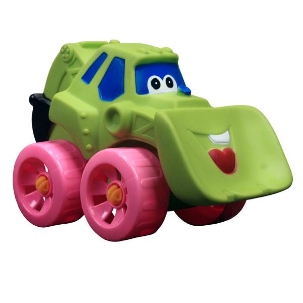 Erpa Бульдозер Tombis цвет салатовый660931Яркая машинка-бульдозер Erpa Tombis понравится вашему малышу. Машинка выполнена из высококачественного мягкого пластика. Большие колеса со свободным ходом обеспечивают хорошую проходимость. Такая игрушка способствует развитию у малыша тактильных ощущений, мелкой моторики рук и координации движений.