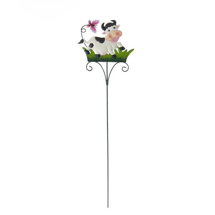 Опора для растений декоративная Village People Танцующая корова, высота 59 см67167Опора Village People Танцующая корова не только создаст надежную опору растениям, но и украсить ваш сад яркими красками. Идеально подходит для декорирования садового участка, грядок, клумб, а также для поддержки и правильного роста декоративных растений. Такое украшение очень просто вставляется в землю с помощью длинной ножки, оно отлично переносит любые погодные условия и прослужит долгое время. Размер коровы: 17 см х 13,5 см. Высота: 59 см.