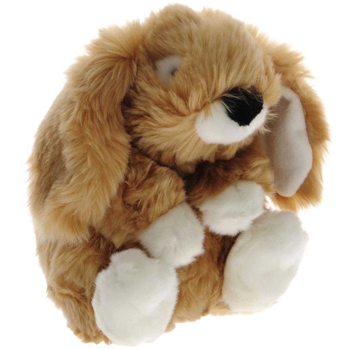 Мягкая игрушка Gulliver Заяц сидячий, цвет: коричневый, 23 см18-9647Мягкая игрушка Gulliver Заяц сидячий изготовлена из приятного на ощупь материала в виде зайчика и набита легким синтепоном. Глазки игрушки пластиковые. Мягкие игрушки Gulliver действуют позитивно на растущий детский организм, обучая ласке и доброте, улучшают настроение ребенка, развивают тактильную чувствительность, стимулируют зрительное восприятие, хватательные рефлексы и моторику рук. Как материал, так и набивка, с использованием которых изготовлены мягкие игрушки, высокого качества и безопасны для детей. Продукция сертифицирована, экологически безопасна для ребенка, использованные красители не токсичны и гипоаллергенны.
