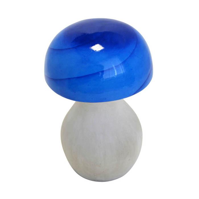 Фигурка декоративная Время удачи Гриб Блестящий - совсем как настоящий!, цвет: синий, высота 17 см57320_1Декоративная фигурка Время удачи Гриб Блестящий - совсем как настоящий! изготовлена из терракоты. Терракота - керамическое неглазурованное изделие из цветной глины с пористым строением. Материал устойчив к воздействиям внешней среды, таким, как влажность, солнце, перепады температуры. Фигурка выполнена в виде гриба. Она отлично подойдет для декоративного оформления вашего сада и огорода. Декоративные садовые фигурки представляют собой последний штрих при создании ландшафтного дизайна дачного или приусадебного участка. Декоративные фигурки для украшения сада позволяют создать правдоподобную декорацию и почувствовать себя среди живой природы. Кроме этого, веселые и незатейливые, они поднимут настроение вам, вашим друзьям и родным. Диаметр: 11 см. Высота: 17 см.