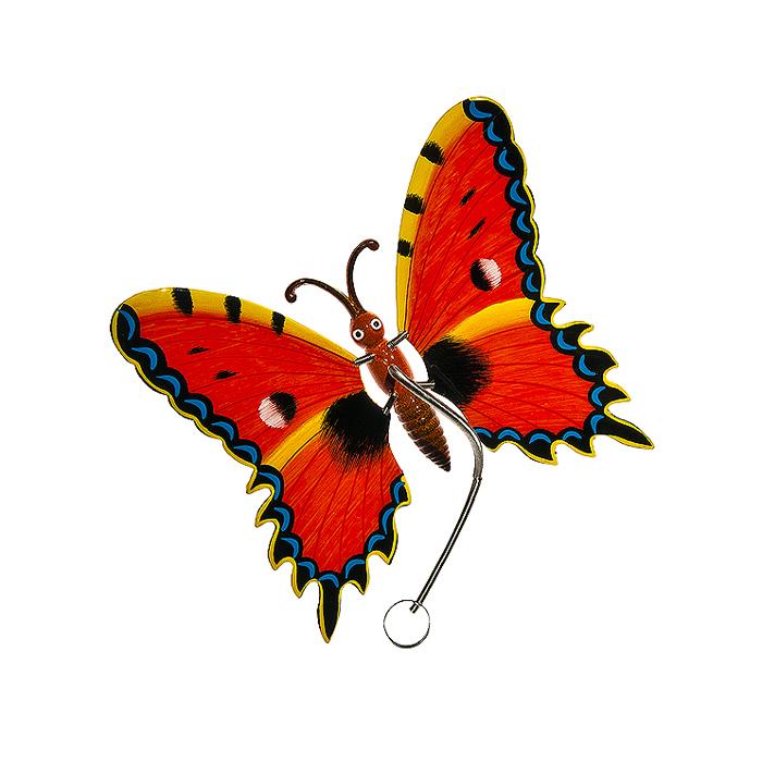 Украшение подвесное Village People Бабочки, цвет: красный, 17,5 см х 16 см х 9 см64580_2Металлическое подвесное украшение Village People Бабочки украсит собой ваш сад и добавит в него ярких красок. Вы можете повесить ее в любом месте сада. Изделие подвешивается с помощью пружины. Крылья бабочки прикреплены к тельцу пружинками, и при движении бабочки крылышки начинают шевелиться.
