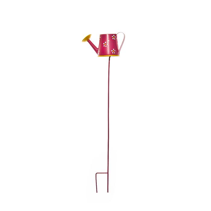 Украшение на ножке Village People Леечка, цвет: розовый, высота 29 см64584_1Украшение на ножке Village People Леечка предназначено для декорирования садового участка, грядок, клумб, цветочных кашпо, а также для поддержки и правильного роста растений. Изделие в ярком симпатичном дизайне изготовлено из прочного и надежного металла. Оно украсит ваш сад и добавит ярких красок. Легко устанавливается в землю.