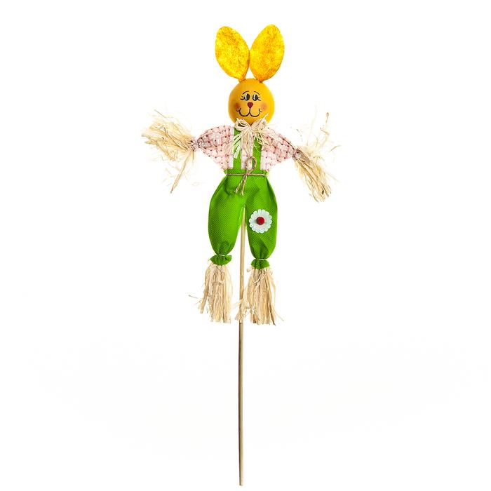 Украшение на ножке Village People Соломенный зайчик, цвет: зеленый, высота 50 см66940_2Украшение на ножке Village People Соломенный зайчик предназначено для отпугивания птиц и декорирования садового участка, грядок, клумб. Изделие представляет собой деревянный стержень с симпатичным соломенным зайчиком, легко устанавливается в землю. Оно украсит ваш сад и добавит ярких красок. Высота: 50 см.