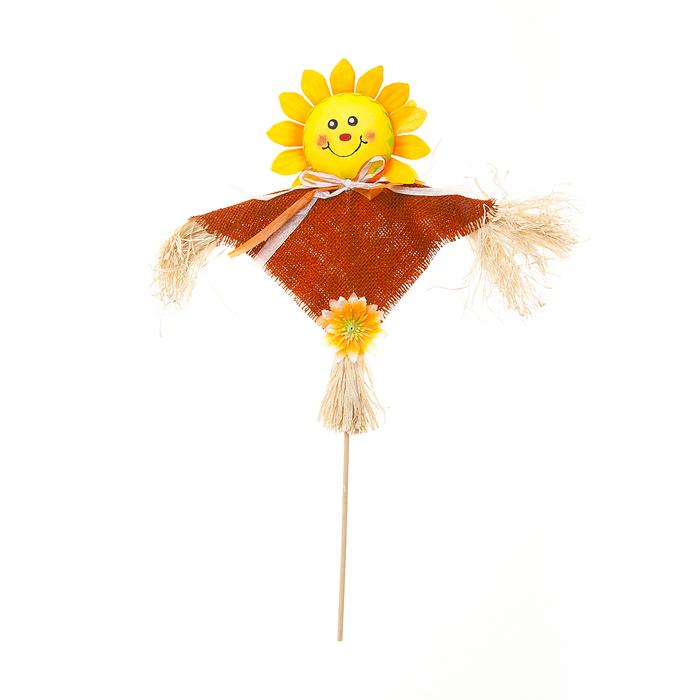 """Украшение на ножке Village People """"Соломенный подсолнух"""", цвет: оранжевый, высота 61 см 66941_2"""