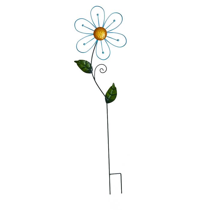 Украшение на ножке Village People Ажурные цветы, цвет: желтый, высота 82 см66977_1Украшение на ножке Village People Ажурные цветы предназначено для декорирования садового участка, грядок, клумб, домашних цветов в горшках, а также для поддержки и правильного роста растений. Цветок в ярком нежном дизайне изготовлен из прочного и надежного металла и легко устанавливается в землю. Изделие украсит ваш сад и добавит ярких красок. Диаметр цветка: 24 см. Высота: 82 см.