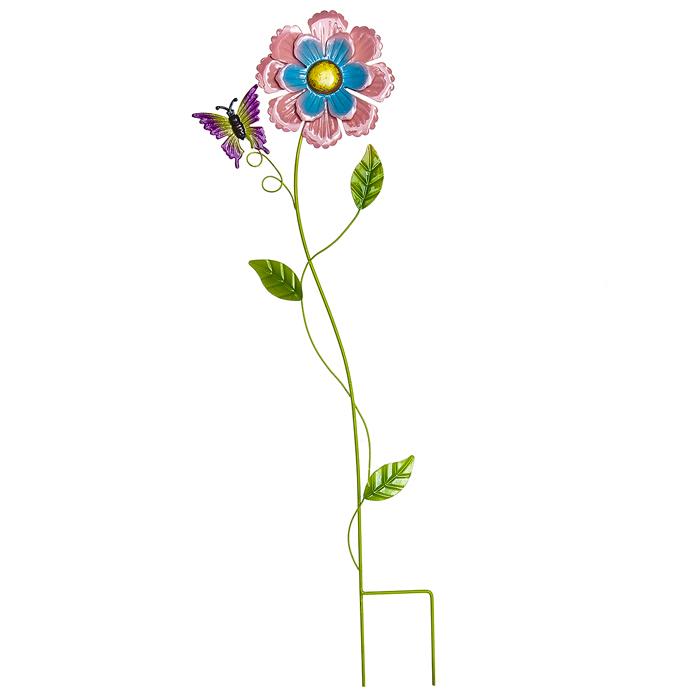 Украшение на ножке Village People Нежный цветок, цвет: оранжевый, высота 65 см66985_1Украшение на ножке Village People Нежный цветок предназначено для декорирования садового участка, грядок, клумб, домашних цветов в горшках, а также для поддержки и правильного роста растений. Цветок в ярком симпатичном дизайне изготовлен из прочного и надежного металла, он легко устанавливается в землю. Изделие украсит ваш сад и добавит ярких красок.