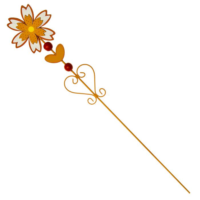 Украшение на ножке Village People Цветущая поляна, цвет: оранжевый, высота 56 см68478_2Украшение на ножке Village People Цветущая поляна поможет вам дополнить экстерьер красивой и яркой деталью. Такое украшение очень просто вставляется в землю с помощью длинной ножки, оно отлично переносит любые погодные условия и прослужит долгое время. Идеально подходит для декорирования садового участка, грядок, клумб, домашних цветов в горшках, а также для поддержки и правильного роста декоративных растений. Диаметр цветка: 9,5 см. Высота: 56 см.