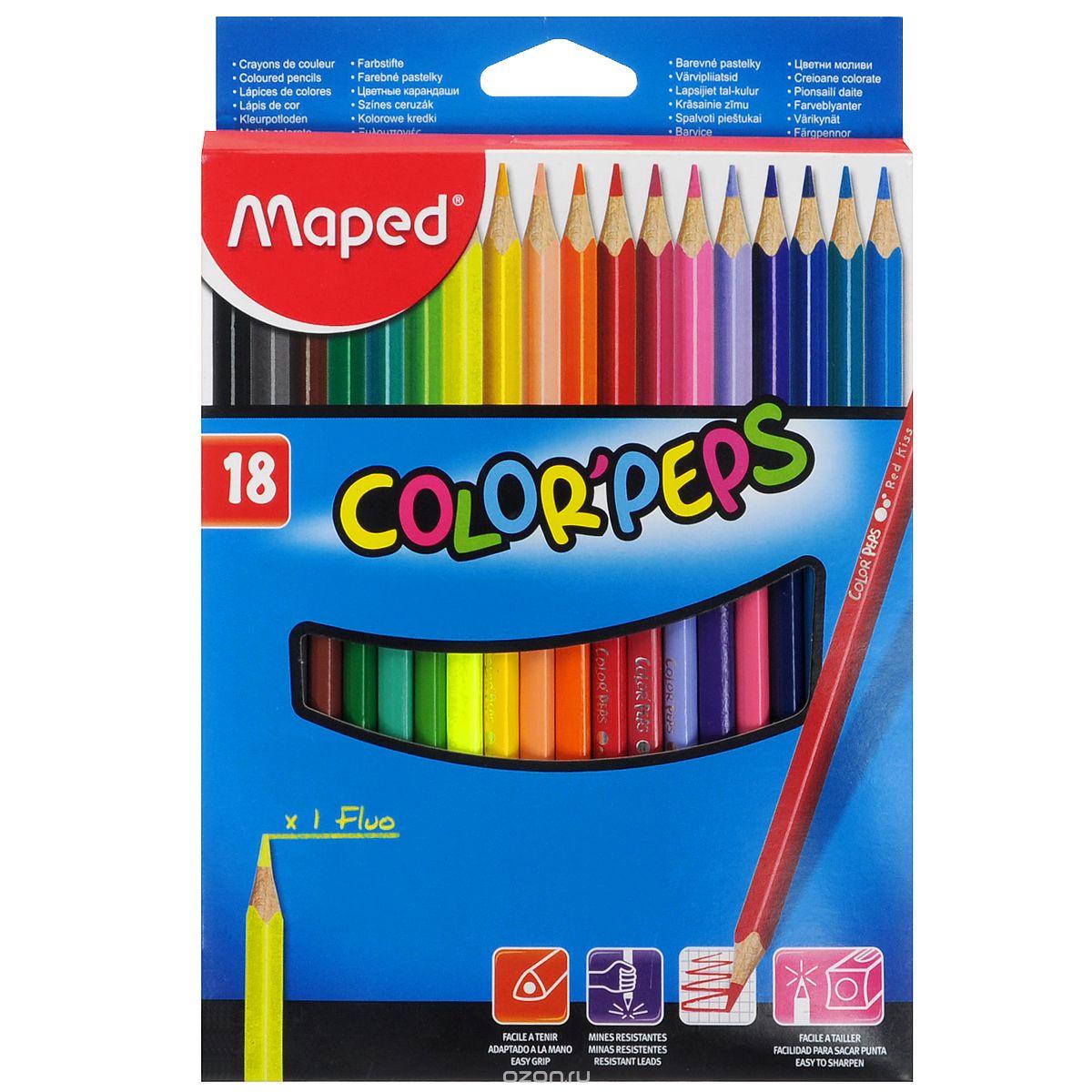 Карандаши цветные Maped Color Peps, 18 цветов845021