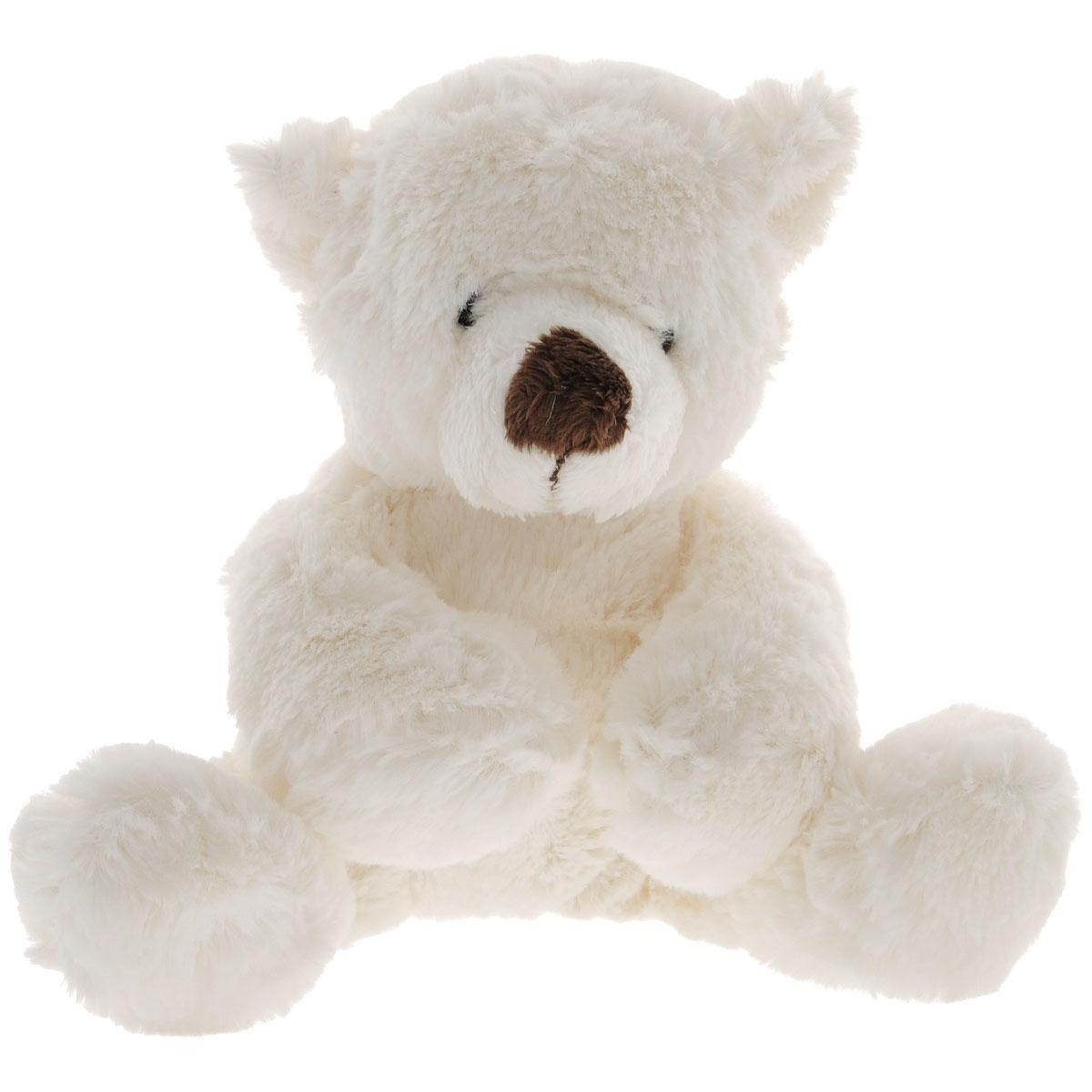 Gulliver Мягкая игрушка Медведь белый, лежачая, 23 см7-43063-1Медведь создан на радость мальчикам и девочкам, но и взрослые не смогут пройти мимо такого очаровашки. Ребенку понравится спать с плюшевым другом, крепко обняв его или положив под голову вместо подушки. Специальные гранулы, используемые при ее набивке, способствуют развитию мелкой моторики рук малыша. Удивительно мягкая игрушка принесет радость и подарит своему обладателю мгновения нежных объятий и приятных воспоминаний. Великолепное качество исполнения делают эту игрушку чудесным подарком к любому празднику.