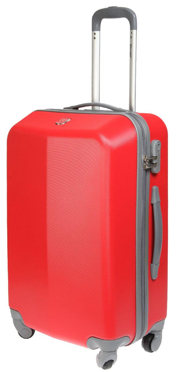 Чемодан-тележка Verage, цвет: красный, 60 л. GM12096W 24GM12096W 24 redЧемодан-тележка Verage оснащен четырьмя колесиками, вращающимися на 360°. Закрывается по периметру на двухстороннюю молнию. Сверху расположены 2 ручки для удобства транспортировки. Одна из ручек выдвижная (максимальная высота 45 см). Имеется встроенный кодовый замок с функцией TSA. Внутри два отдела для одежды, которая фиксируется эластичными резинками на застежках. Также внутри расположен один сетчатый карман на молнии. Возможно увеличить объема на 20% (за счет внутренней молнии).