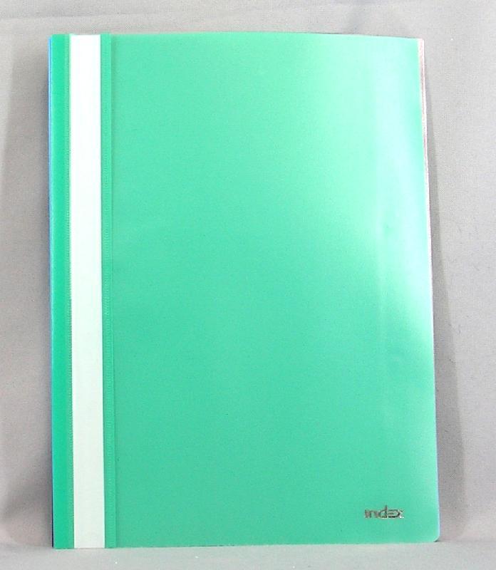 Index Папка-скоросшиватель цвет зеленый 20 штI200/GNПапка-скоросшиватель Index, изготовленная из высококачественного полипропилена - это удобный и практичный офисный инструмент, предназначенный для хранения и транспортировки рабочих бумаг и документов формата А4. Папка оснащена верхним прозрачным матовым листом и металлическим зажимом внутри для надежного удержания бумаг. В наборе - 20 папок. Папка-скоросшиватель - это незаменимый атрибут для студента, школьника, офисного работника. Такая папка надежно сохранит ваши документы и сбережет их от повреждений, пыли и влаги.