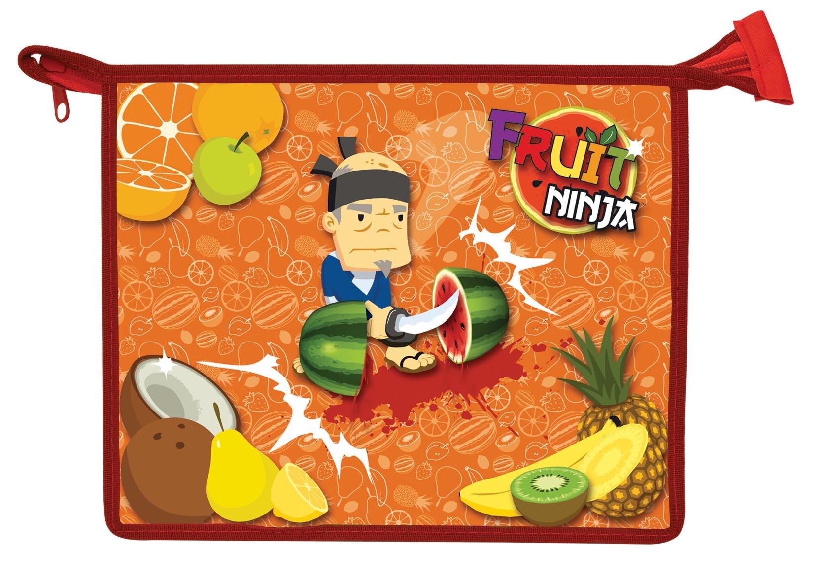 Папка для тетрадей Action! Fruit Ninja, на молнии. Формат A5FN-FZA5Папка Action! Fruit Ninja предназначена для хранения тетрадей, рисунков и прочих бумаг с максимальным форматом А5. Папка выполнена из прочного материала и содержит одно отделение. Закрывается она на застежку-молнию. Лицевая сторона папки оформлена ярким рисунком. С папкой Action! Fruit Ninja тетради вашего ребенка всегда будут выглядеть опрятно.