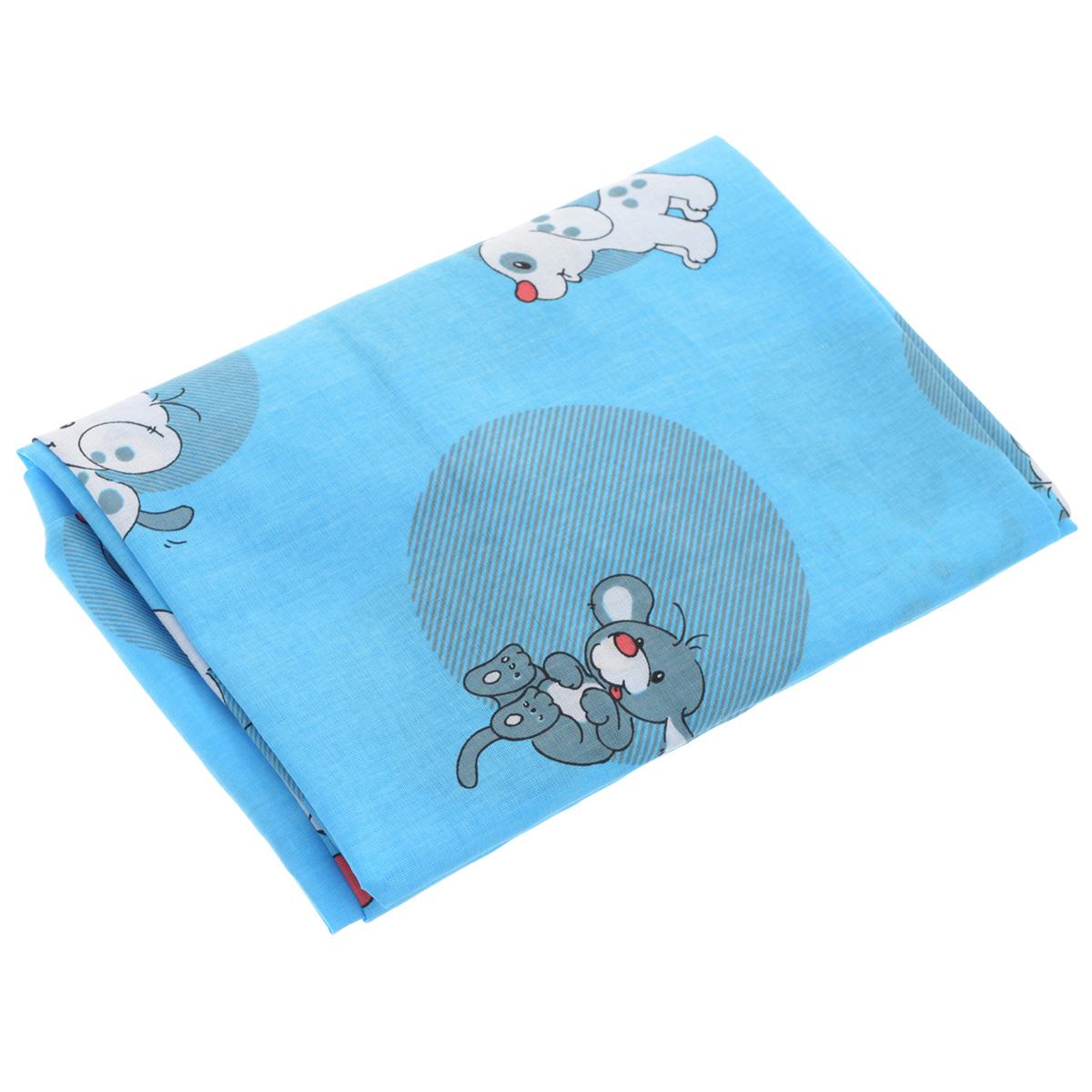 Простыня на резинке Фея Наши друзья, цвет: голубой, 60 см х 120 см0001050-1Мягкая простыня на резинке Фея Наши друзья идеально подойдет для кроватки вашего малыша и обеспечит ему здоровый сон. Она изготовлена из натурального 100% хлопка, дарящего малышу непревзойденную мягкость. Простыня с помощью специальной резинки растягивается на матрасе. Она не сомнется и не скомкается, как бы не вертелся ребенок. Подарите вашему малышу комфорт и удобство!