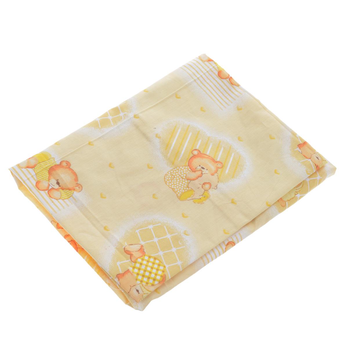 Простыня на резинке Фея Мишки, цвет: желтый, 60 см х 120 см0001049-3Мягкая простыня на резинке Фея Мишки идеально подойдет для кроватки вашего малыша и обеспечит ему здоровый сон. Она изготовлена из натурального 100% хлопка, дарящего малышу непревзойденную мягкость. Простыня с помощью специальной резинки растягивается на матрасе. Она не сомнется и не скомкается, как бы не вертелся ребенок. Подарите вашему малышу комфорт и удобство!