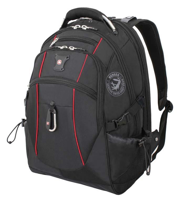Рюкзак городской Wenger, цвет: черный, красный, 34 см x 23 см x 48 см, 38 л6677202408Высококачественный и стильный, надежный и удобный, а главное прочный рюкзак Wenger. Благодаря многофункциональности данный рюкзак позволяет удобно и легко укладывать свои вещи. Особенности рюкзака: 3 внешних кармана на молнии 2 внешних регулируемых сетчатых кармана для бутылок с водой Боковая молния для быстрого доступа к ноутбуку Большое основное отделение Внешний карабин Внутренний карман на молнии Возможность крепления на чемодане Отделение для 17 ноутбука с системой ScanSmart Карман-органайзер для мелких предметов Металлические застежки молний с пластиковыми вставками Мягкая перегородка отделения для ноутбука Карман на липучке для планшетного компьютера с диагональю до 38 см Внутренне отстегивающееся кольцо для ключей Петля для очков Поясничная поддержка рюкзака Регулируемые плечевые ремни Внутренний сетчатый карман на молнии для хранения аксессуаров ноутбука ...