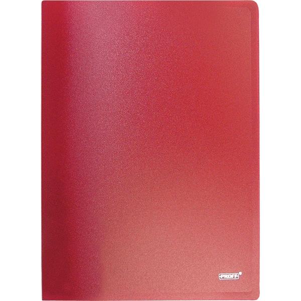 Папка A4 с боковым пружинным скоросшивателем и внутренним карманом красная 0.60 мм