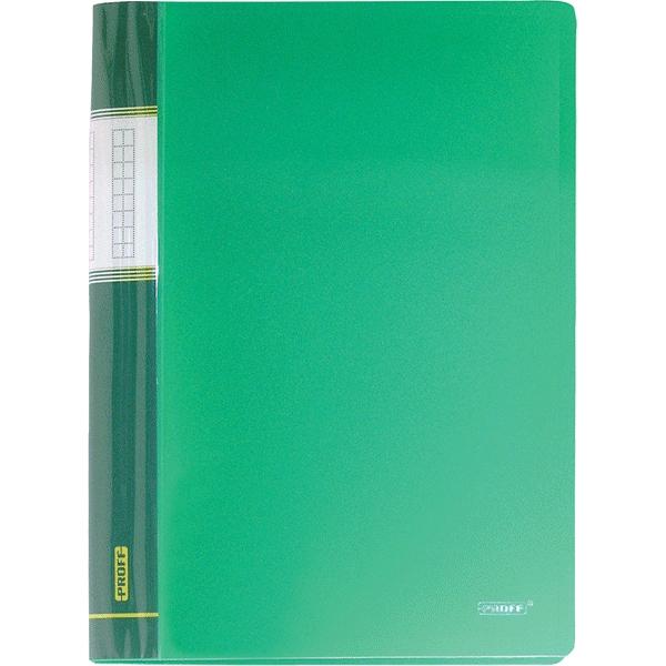 Папка Proff Next, на 30 файлов, цвет: зеленый. Формат А4DB30AB-03Папка с файлами Proff Next - это удобный и практичный офисный инструмент, предназначенный для хранения и транспортировки рабочих бумаг и документов формата А4. Обложка выполнена из плотного полипропилена. Папка включает в себя 30 прозрачных файлов формата А4. Папка с файлами - это незаменимый атрибут для студента, школьника, офисного работника. Такая папка надежно сохранит ваши документы и сбережет их от повреждений, пыли и влаги.