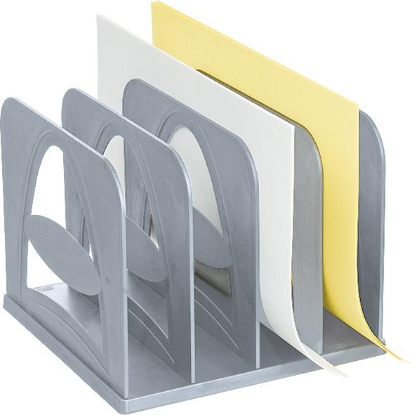 Лоток для бумаг вертикальный Стамм Сортер, 4 секции, цвет: серый. СО01СО01Вертикальный лоток для бумаг Стамм Сортер предназначен для сортировки и временного хранения документов различных размеров, писем, счетов и другой документации. Устойчив на рабочей поверхности за счет четырех резиновых ножек. Конструкция сборная, удобна при транспортировке.