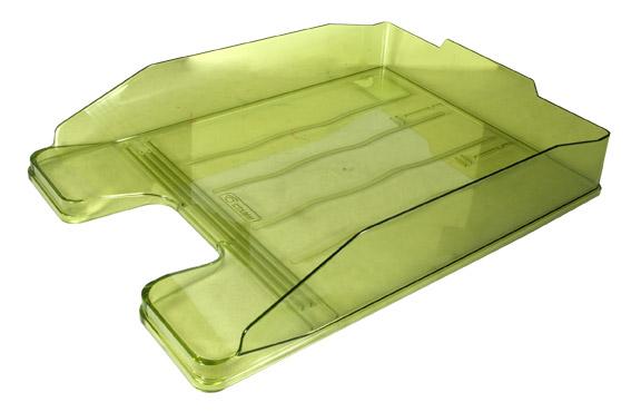 Лоток для бумаг горизонтальный Стамм Эксперт, прозрачный, цвет: желто-зеленый. ЛТ206ЛТ206_425-1370Горизонтальный лоток для бумаг Стамм Эксперт предназначен для хранения бумаг и документов формата А4. Лоток с оригинальным дизайном корпуса поможет вам навести порядок на столе и сэкономить пространство. Лоток изготовлен из прочного пластика. Приподнятая фронтальная часть лотка облегчает изъятие документов из накопителя. Несколько лотков можно ставить друг на друга как строго прямо, так и со смещением. Лоток для бумаг станет незаменимым помощником для работы с бумагами дома или в офисе, а его стильный дизайн впишется в любой интерьер. Благодаря лотку для бумаг, важные бумаги и документы всегда будут под рукой.