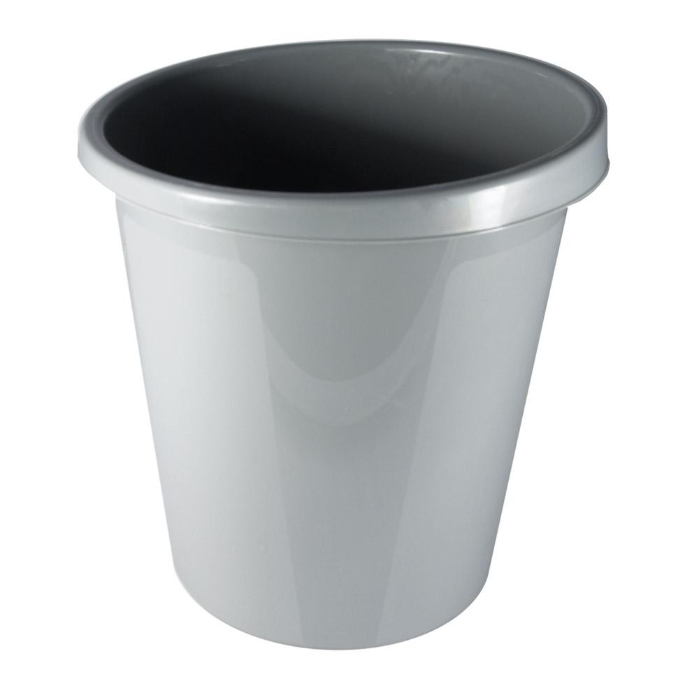 Корзина для бумаг Стамм, цвет: серый, 9 лКР61Корзина для бумаг Стамм выполнена из прочного высококачественного пластика и предназначена для сбора мелкого мусора и бумаг. Удобная компактная корзина прекрасно впишется в интерьер гостиной, спальни, офиса или кабинета.