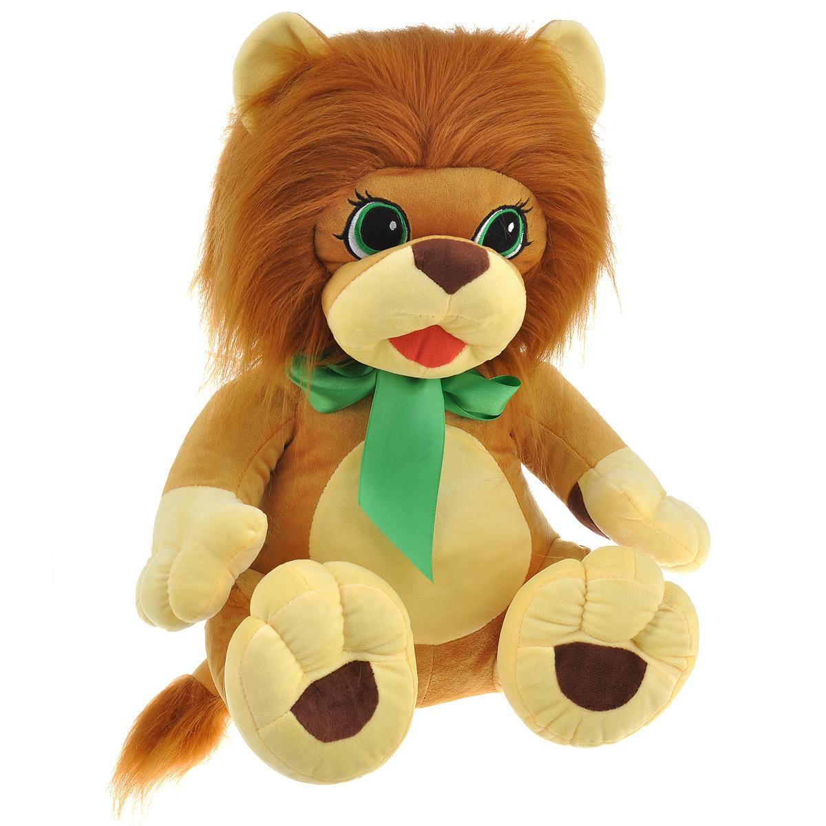 Мягкая игрушка СмолТойс Львенок, 45 см1869/БЖ/45Симпатичная мягкая игрушка СмолТойс Львенок не оставит равнодушным ни ребенка, ни взрослого и вызовет улыбку у каждого, кто его увидит. Необычайно мягкий, он принесет радость и подарит своему обладателю мгновения нежных объятий и приятных воспоминаний. Игрушка удивительно приятна на ощупь, а специальные гранулы, используемые при ее набивке, способствуют развитию мелкой моторики рук малыша. Мягкая игрушка может стать милым подарком, а может быть и лучшим другом на все времена.
