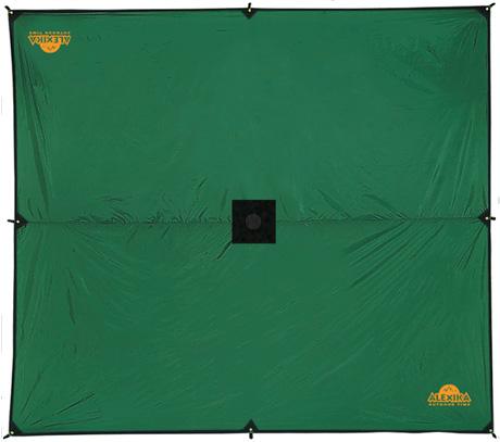 Тент Alexika Awning, цвет, зеленый, 500 cм х 400 cм9180.5401Тент Alexika Awning - отличный вариант для хранения вещей, защиты от дождя и солнца и организации летней столовой. Середина тента усилена квадратом ткани для установки подпорки в центре, с другой стороны усиливающего квадрата вшита оттяжка для подвешивания центра тента на растяжках. Углы тента усилены вставками из прочной ткани, обшиты стропой, люверс запрессован в стропу, что значительно повышает прочность конструкции при натяжении тента. Материал тента устойчив к воздействию ультрафиолета.