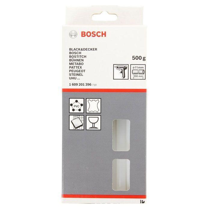 Набор бесцветных клеевых стержней Bosch, 500 г1609201396Бесцветный клеевой стержень Bosch предназначен для склеивания ПВХ, полимерных материалов, кожи, керамики, ткани, стекла. Для эластичных, вязких соединений.