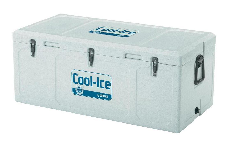 WAECO Cool-Ice WCI-110 изотермический контейнер, 111 лWCI-110Термобокс WAECO Cool Ice WCI 110 имеет особое лабиринтное уплотнение, которое не дает попадать теплому воздуху во внутрь. Эта система LABYRINTH SEAL - которая дает возможность сохранять необходимую температуру дольше. Термобокс сделан из термостойких, гигиеничных материалов. Cool Ice WCI 110 имеет защиту от ультрафиолетового излучения, очень легко моется и оснащен надежными защелками, петли сделаны из нержавеющей стали. Для удобства транспортировки, предусмотрены удобные ручки. Также предусмотрено отверстие для слива конденсата в корпусе. Вес термобокса - 15,7 кг.