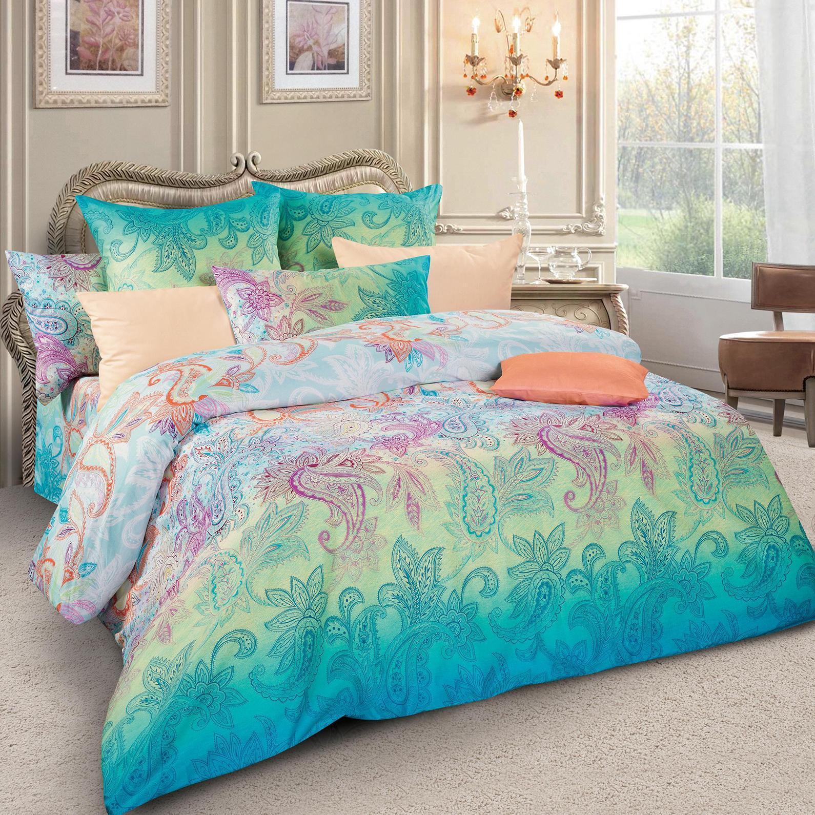 Комплект белья Letto, 2-спальный, наволочки 70х70, цвет: Мультиколор. sm48-4