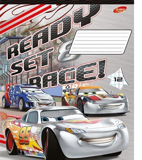 Cars Набор тетрадей в узкую линейку, 12 листов, формат А5, 10 шт125010