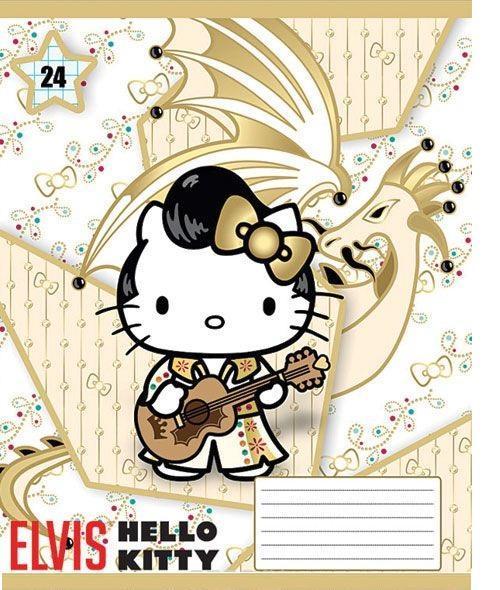 Hello Kitty Набор тетрадей в линейку, 24 листа, формат А5, 10 шт, цвет: золотистый125000