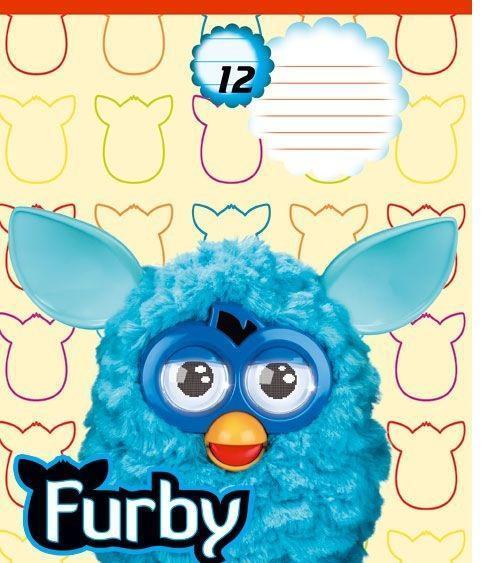 Furby Набор тетрадей в линейку, 12 листов, формат А5, 10 шт125030