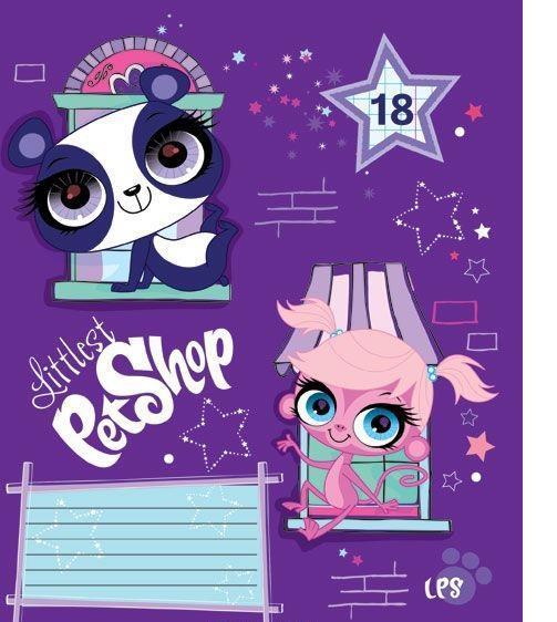 Littlest Pet Shop Набор тетрадей в клетку, 18 листов, формат А5, 10 шт125058